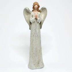 Sivý anjel s rukami spolu