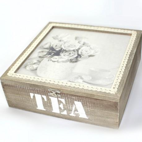 Krabička na čaj s ružami