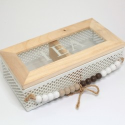 Čajová krabička s korálkami