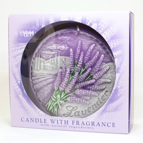 Sviečka Lavender disk v krabičke