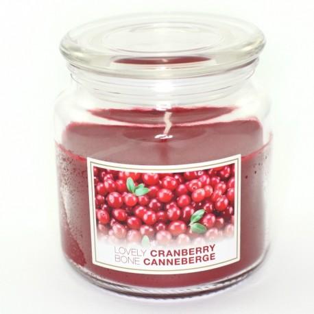 Sviečka Lovely Cranberry v skle